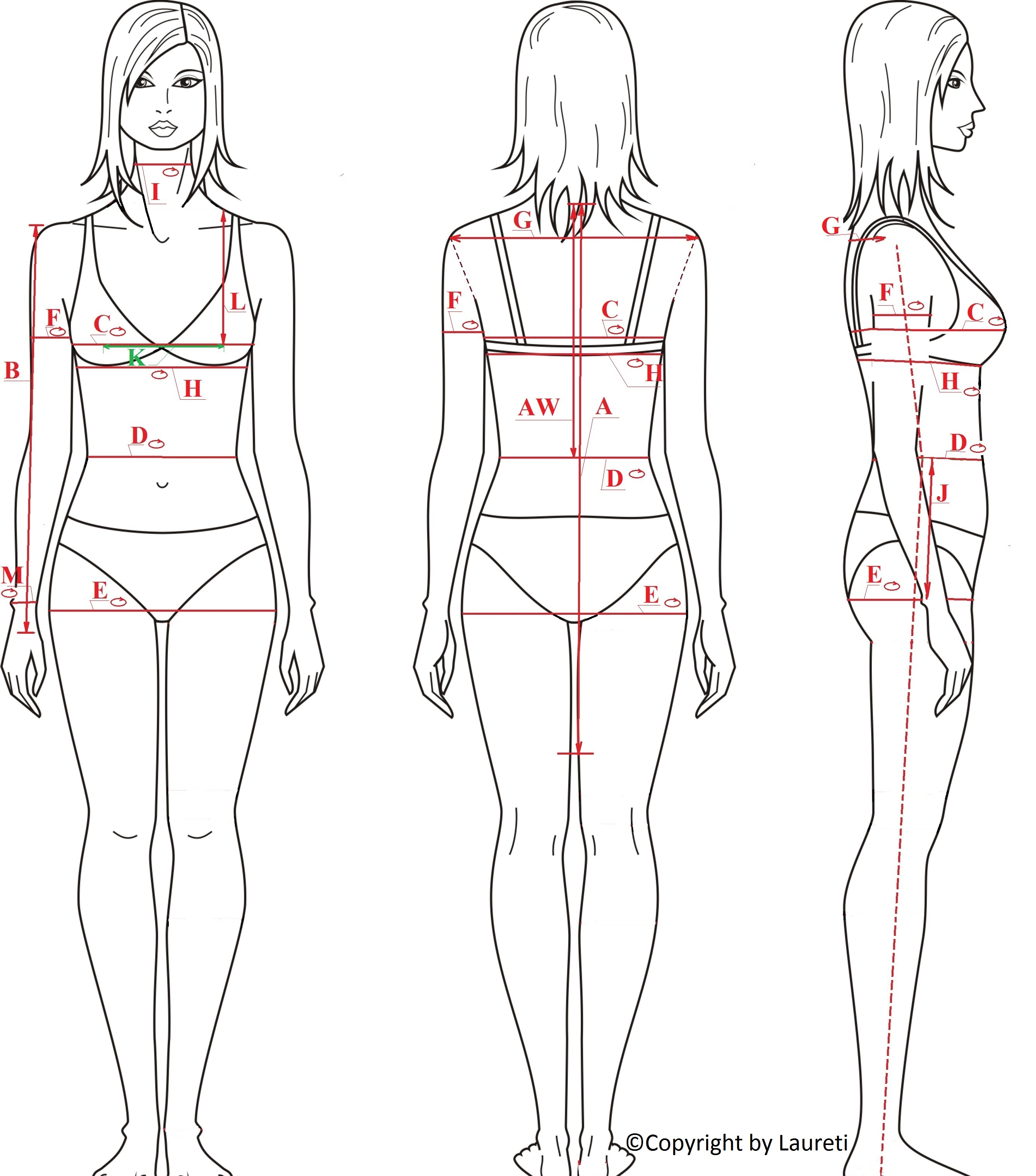 Our women's body measurements charts make online shopping easy for you. pc-ios.tk for Business can ensure consistent sizing for your orders.