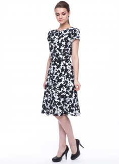 Women dress Hyacinth with sleeves-1