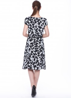 Women dress Hyacinth with sleeves-2