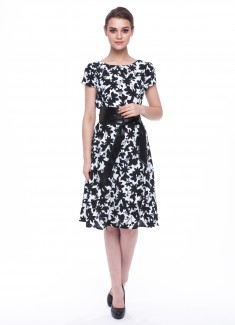 Women dress Hyacinth with sleeves-3