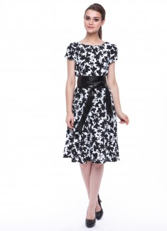 Women dress Hyacinth with sleeves-4