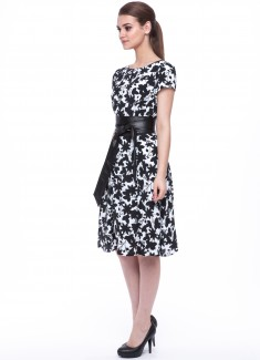 Women dress Hyacinth with sleeves-5
