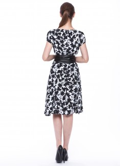 Women dress Hyacinth with sleeves-6