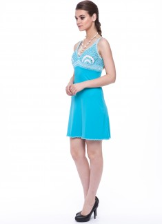 Women dress Hydrangea-3
