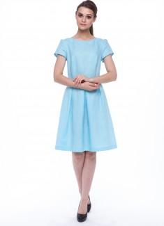 Women dress Lily blue sleeves-1
