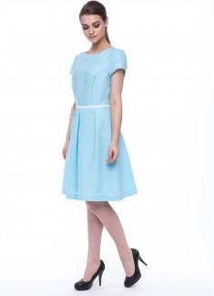 Women dress Lily blue sleeves-2