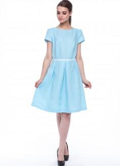 Women dress Lily blue sleeves