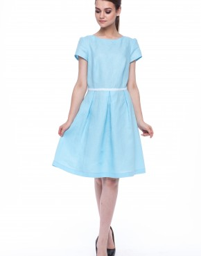 Women dress Lily blue sleeves