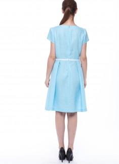 Women dress Lily blue sleeves-3