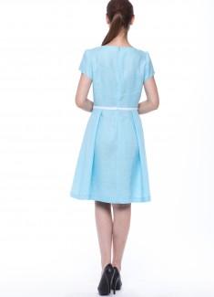 Women dress Lily blue sleeves-4