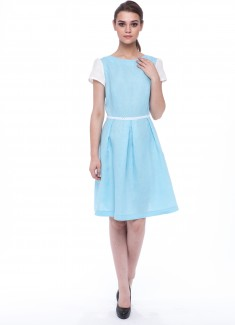 Women dress Lily white sleeves-1