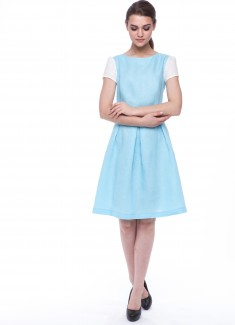 Women dress Lily white sleeves-2