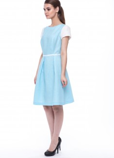 Women dress Lily white sleeves-3