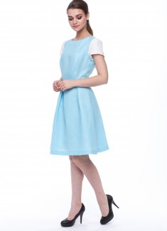Women dress Lily white sleeves-4