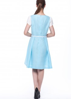 Women dress Lily white sleeves-5