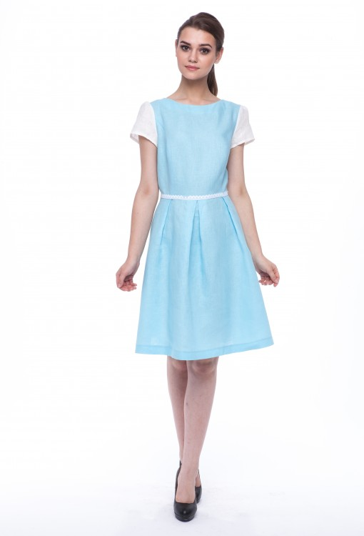 Women dress Lily white sleeves