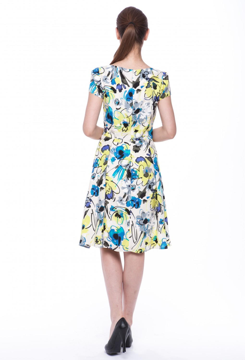 "Summer dress ""Magnolia"" with sleeves 