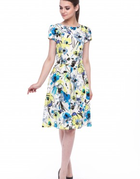 Women dress Magnolia with sleeves