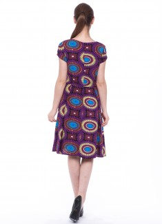 Women dress Sunflower with sleeves-2