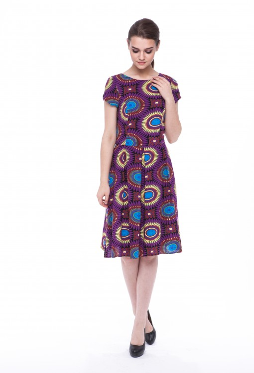 Women dress Sunflower with sleeves