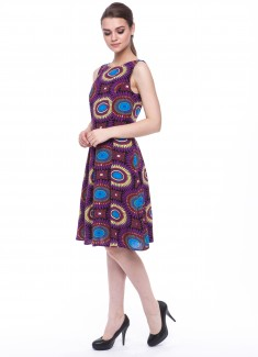 Women dress Sunflower without sleeves-1