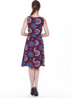 Women dress Sunflower without sleeves-2