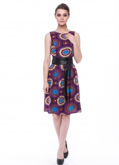 Women dress Sunflower without sleeves-3