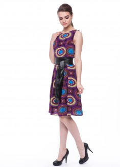 Women dress Sunflower without sleeves-5