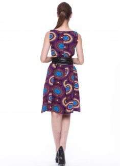 Women dress Sunflower without sleeves-6