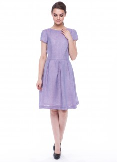 Women dress Violet with sleeves-1