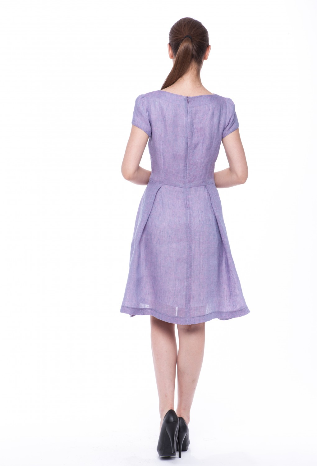 "Summer dress ""Violet"" with sleeves 