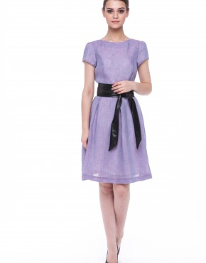Women dress Violet with sleeves-3