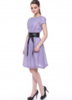 Women dress Violet with sleeves-5
