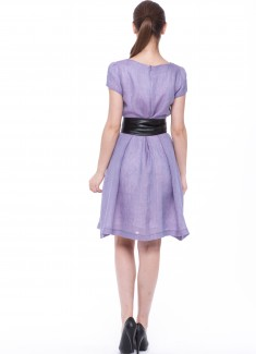 Women dress Violet with sleeves-6
