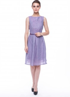 Women dress Violet without sleeves-1