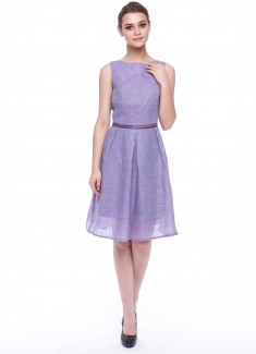 Women dress Violet without sleeves-2