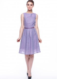 Women dress Violet without sleeves-3