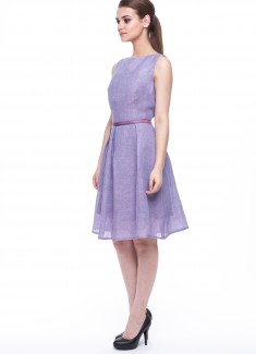 Women dress Violet without sleeves-4