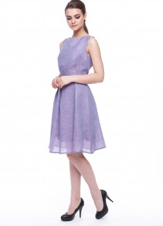 Women dress Violet without sleeves-5