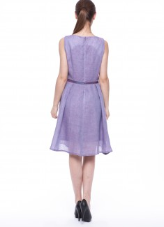 Women dress Violet without sleeves-6