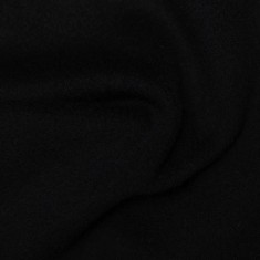 "Woolen Cashmere fabric ""Black"""