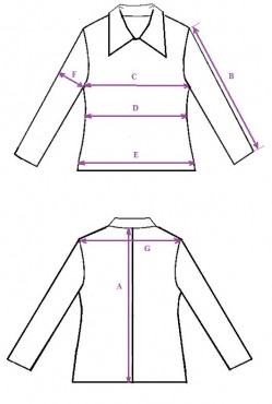 Coat measurements scheme